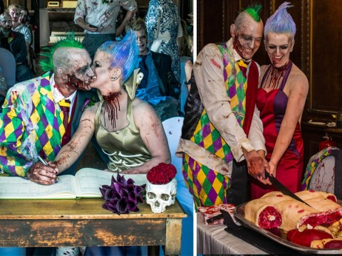 'Til death do us… together? This couple had a zombie-themed wedding