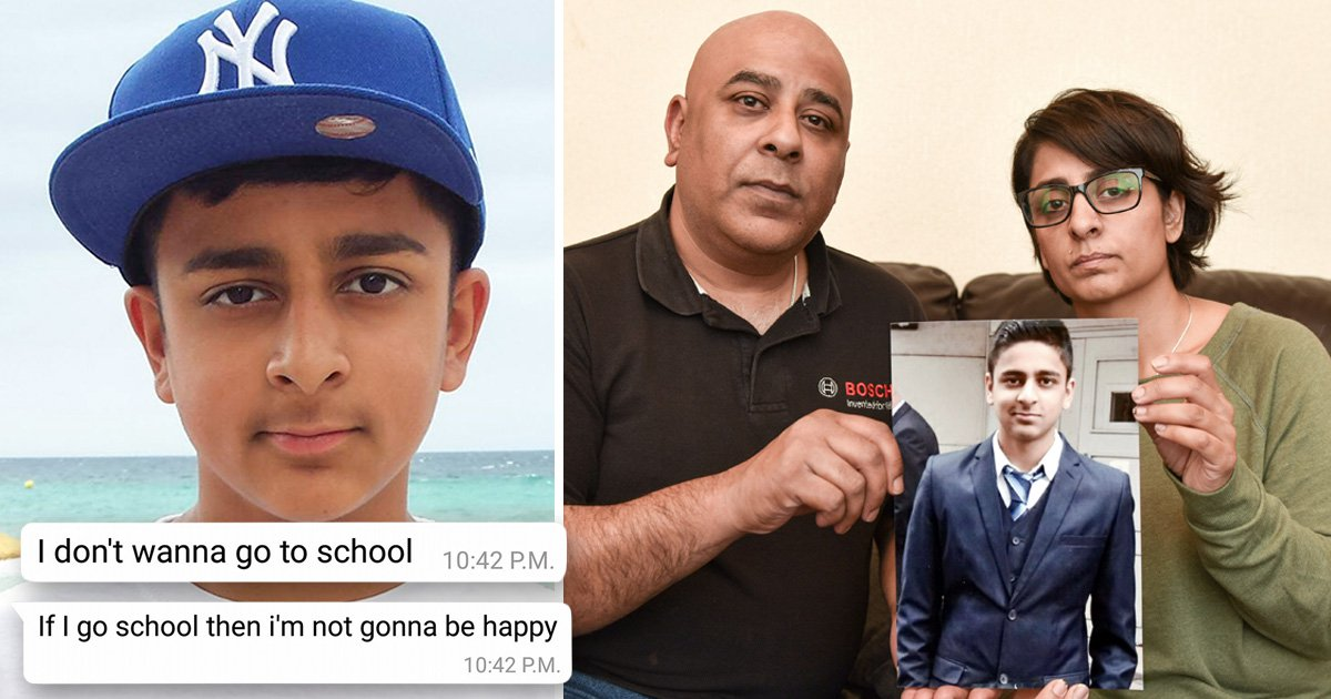 Boy took his own life after bullies called him 'f**got' and threatened to rape his mum