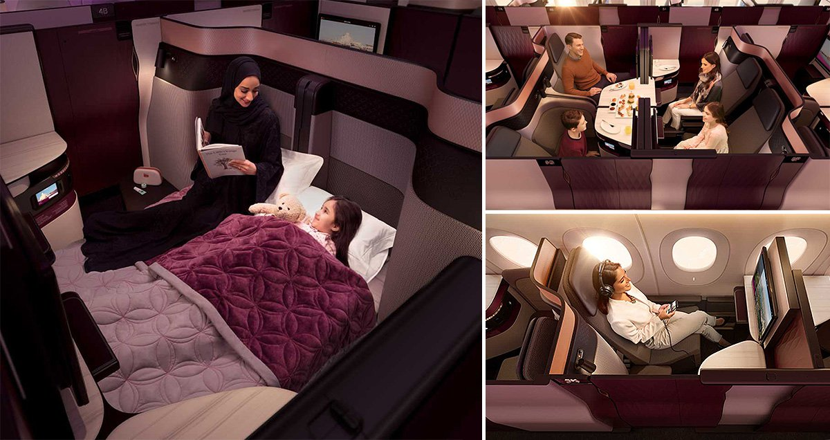 Qatar Airways introduces double beds to its business class section