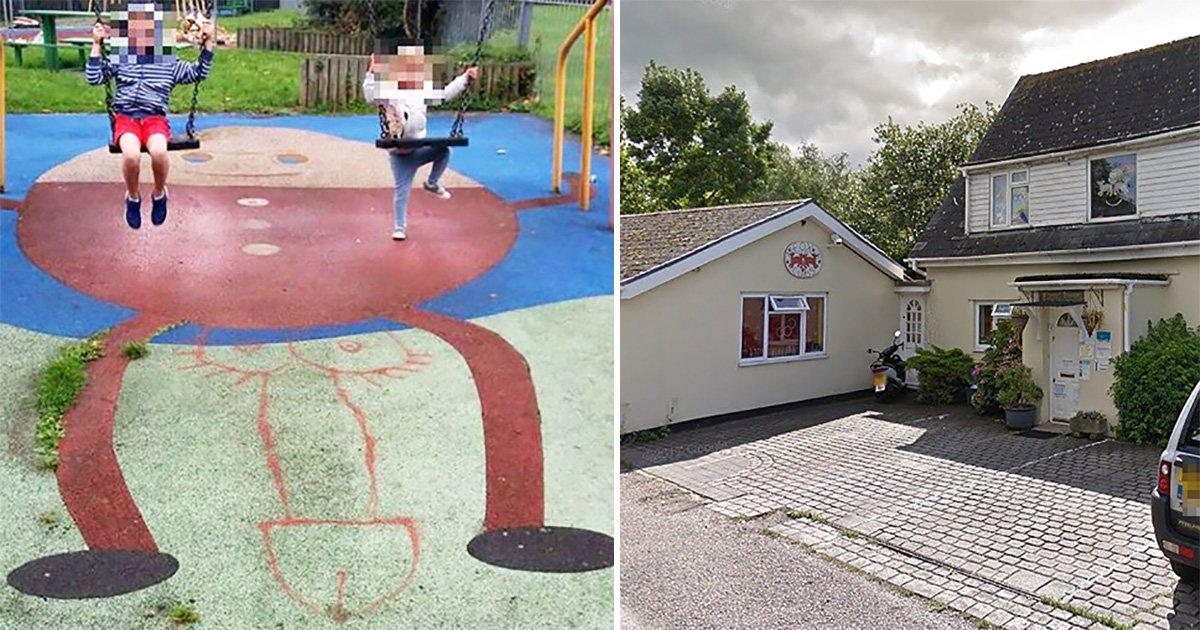 Sick vandals draw massive penis on Humpty Dumpty in children's playground