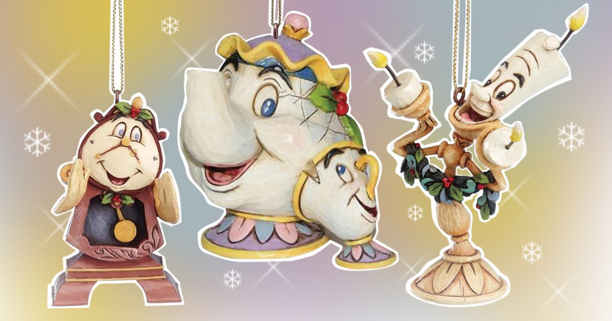 Beauty and the Beast baubles will make an enchanting addition to your Christmas tree