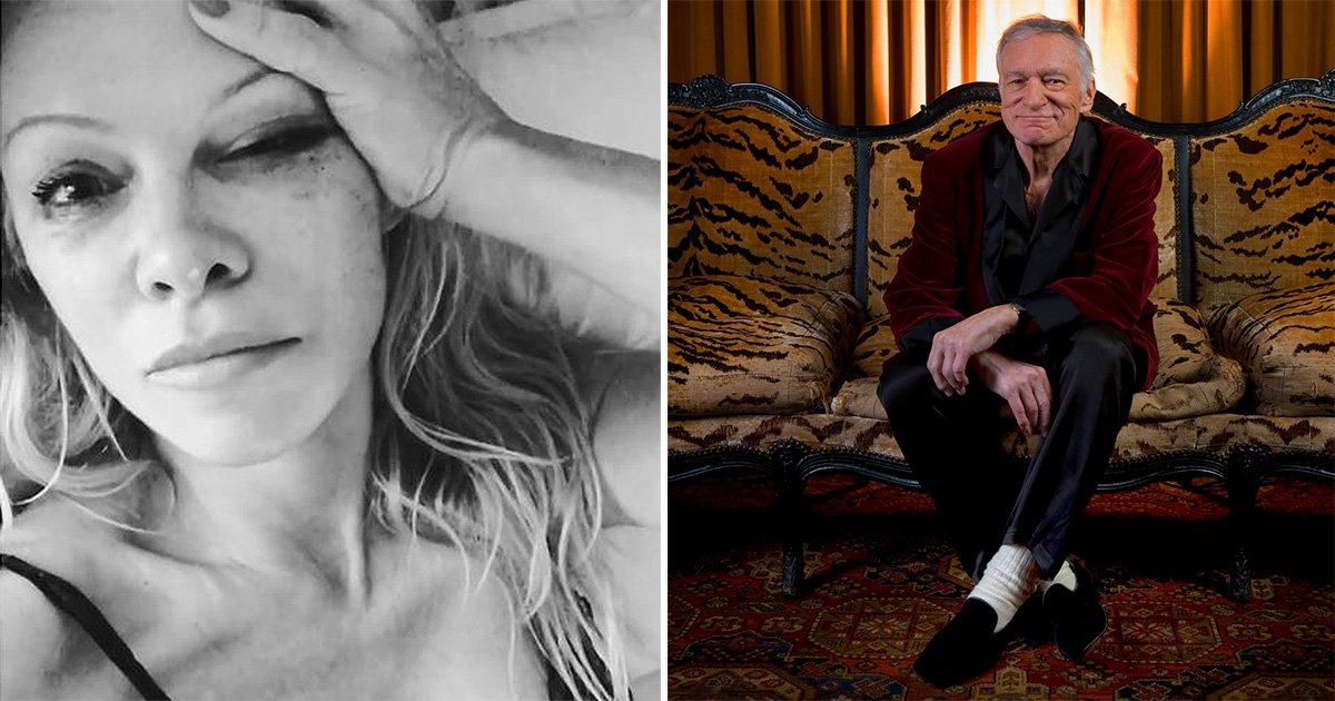 Pamela Anderson divides opinion with bizarre tribute to Hugh Hefner
