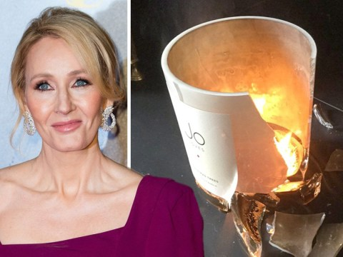 J.K. Rowling witnesses magical candle explosion while writing new novel