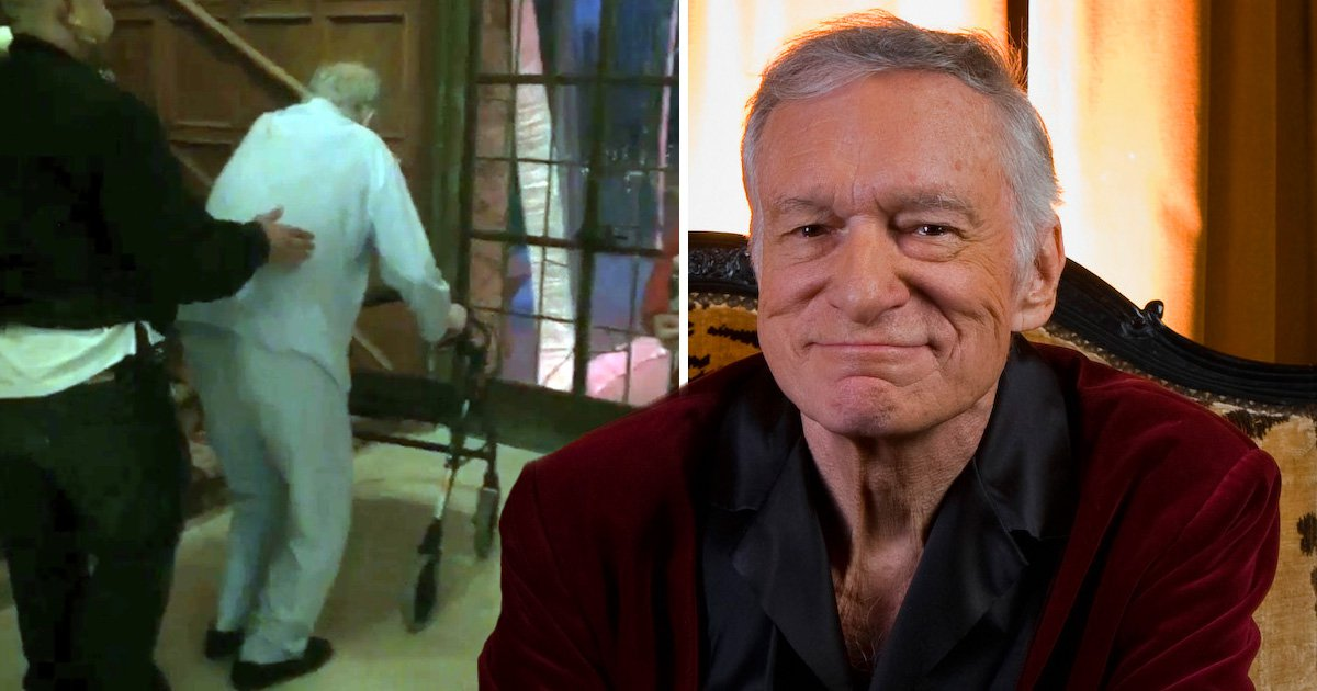 Heartbreaking final photo of frail Hugh Hefner as he suffered 'crippling back infection' in lead up to his death