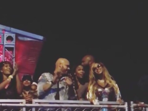 Doting husband Jay-Z gets crowds to sing happy birthday to Beyonce