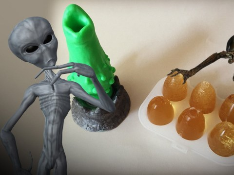 You can get sex toys that lay alien eggs inside you so obviously we tried it