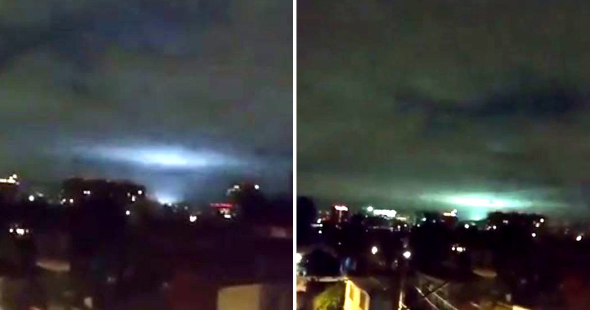 Mystery blue and green lights flash in night sky after Mexico earthquake