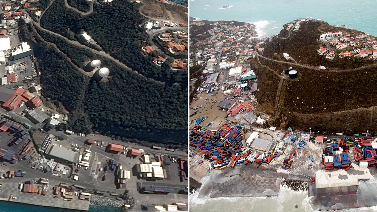 Before and after pictures reveal devastation of Hurricane Irma