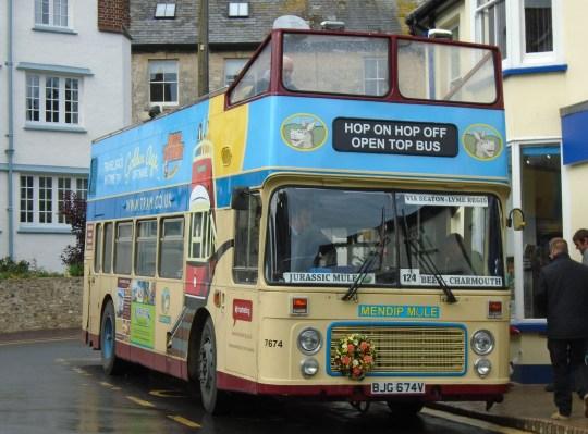 Pensioners accused of vandalising tour bus in bitter