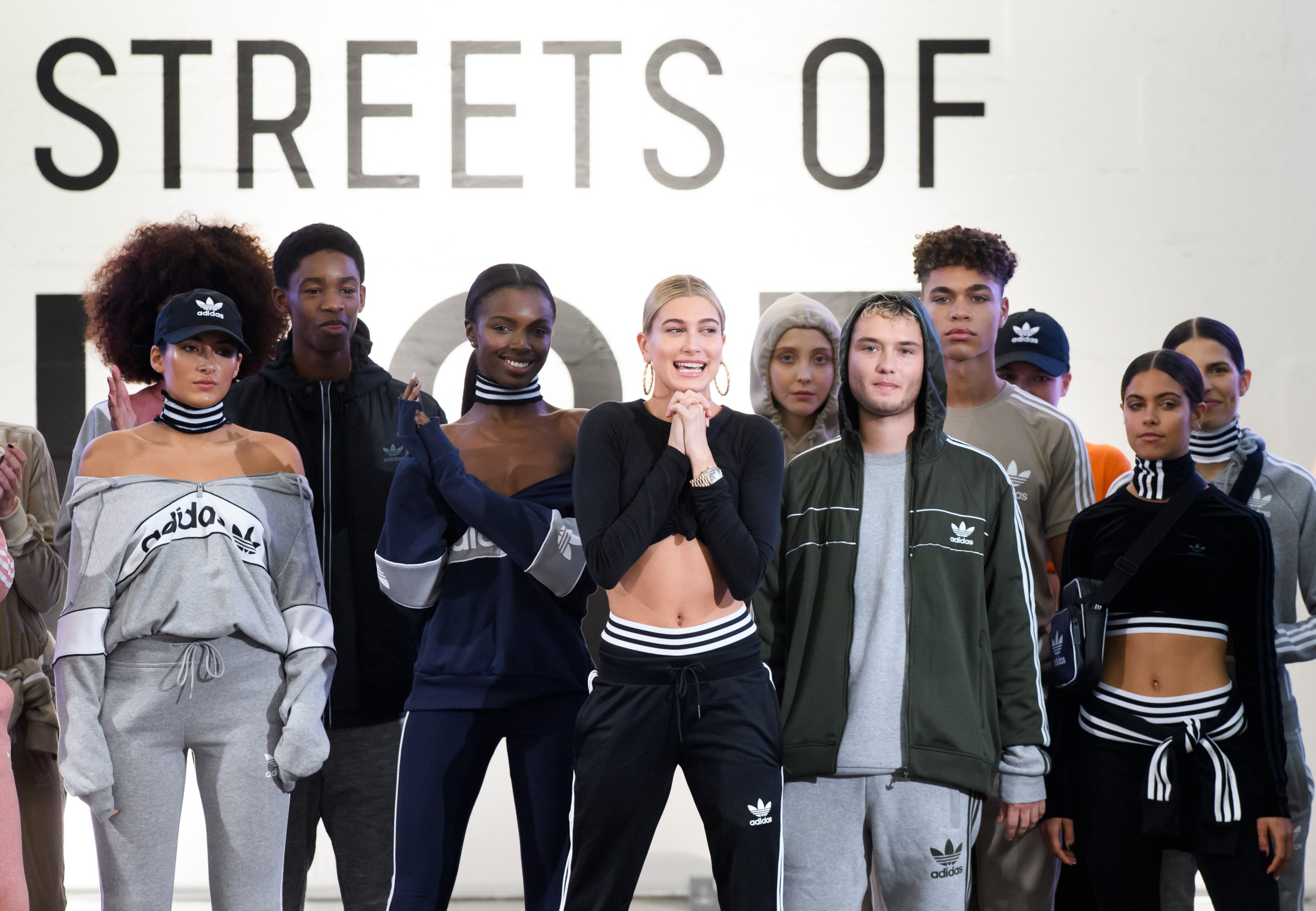 Hailey Baldwin gushes about 'really cool' Victoria Beckham during Adidas show at London Fashion Week