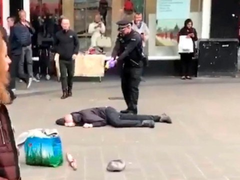 Police taser 'knifeman' in front of shocked shoppers in Birmingham