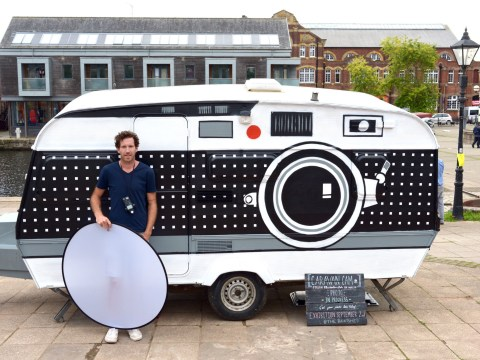 This photographer has turned an old caravan into a massive camera