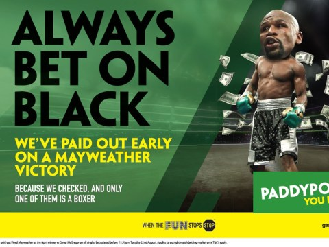 Advert banned for saying 'always bet on black' before Mayweather fight
