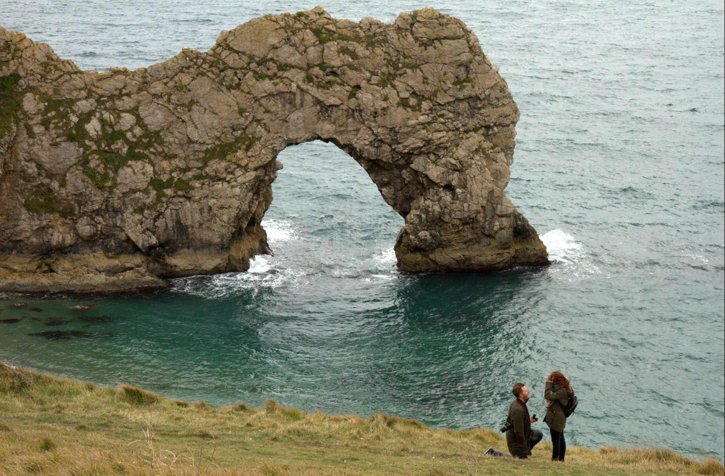 Woman who took perfect proposal photo launches search for mystery couple