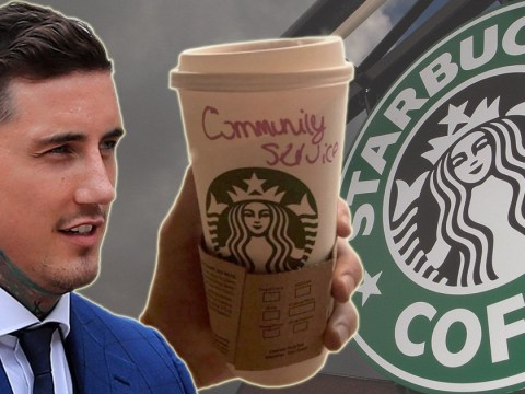 Jeremy McConnell mocked by Starbucks barista with 'community service' label