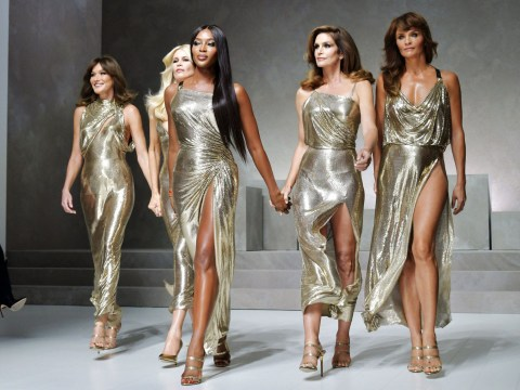 Versace's original Golden Girls reunite on the catwalk and it's everything