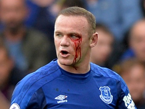 Wayne Rooney suffers horror eye injury in Everton's clash with Bournemouth
