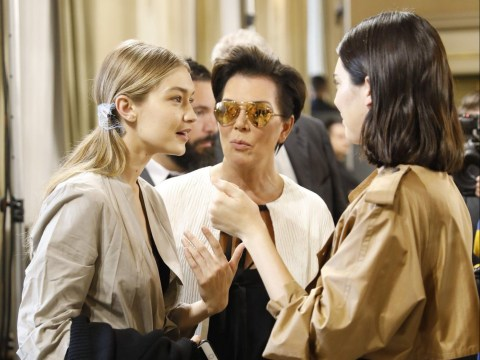Gigi Hadid, Kendall Jenner and Kris Jenner look deep in conversation as Kylie 'pregnancy bombshell' drops
