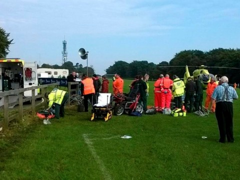 Six people hurt after two motorbike crashes at racing track