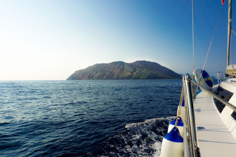 Sailing around the Aeolian Islands, Sicily (Picture: Chloe Gunning)