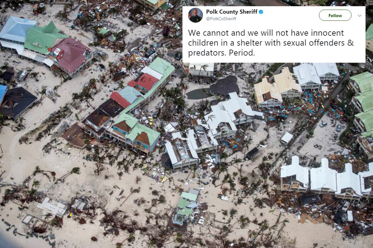 Sex offenders barred from Hurricane Irma shelters