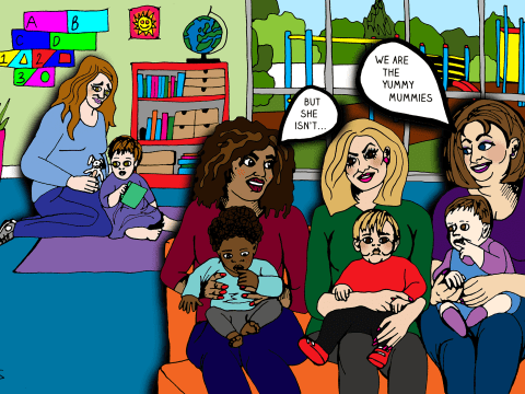 Down with the baby group cliques – don't let a mum sit on her own