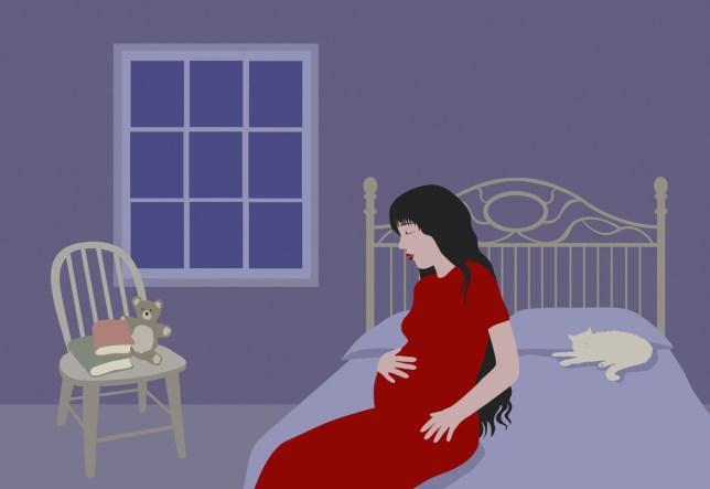 Mother in bedroom