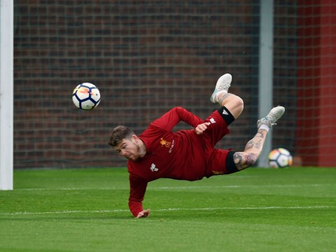 Watch: Alberto Moreno scores brilliant scorpion kick in Liverpool training