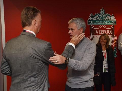 Louis van Gaal slams back stabber Jose Mourinho after impromptu Anfield meeting