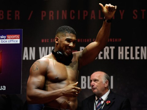 Anthony Joshua vs Carlos Takam Weigh-Ins LIVE: Heavyweights tip the scales in Cardiff