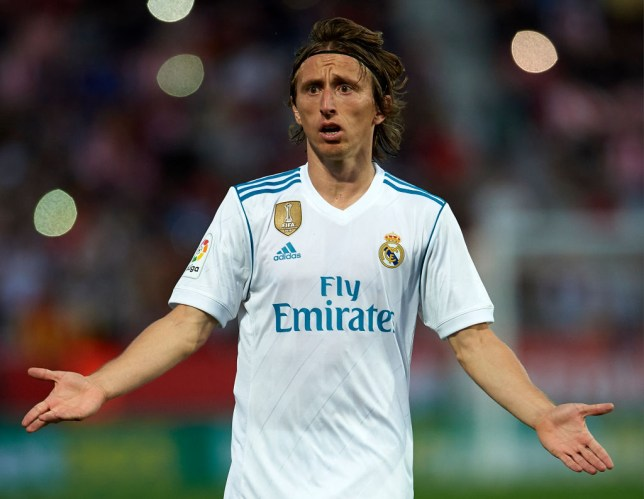 new style 6c61c 3438a Real Madrid stars Marcelo and Luka Modric clash during ...