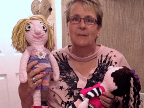 Meet the grandma who crochets personalised dolls with missing limbs for amputee chidren