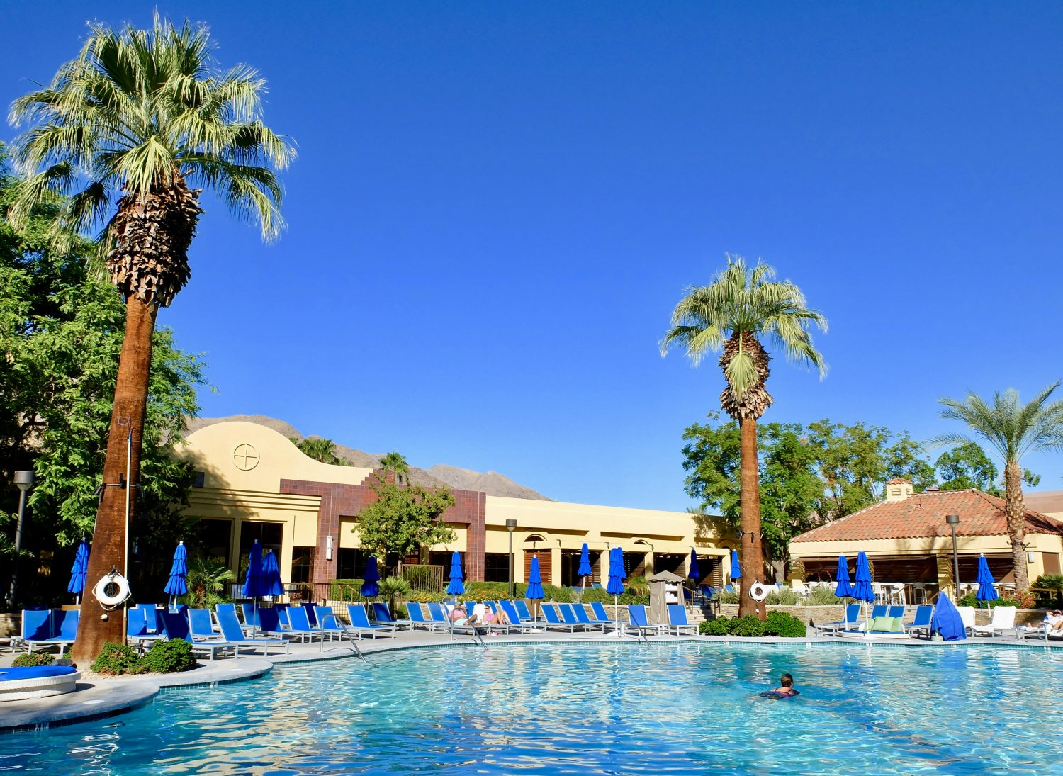 The pool at the Renaissance Palm Springs Hotel, California