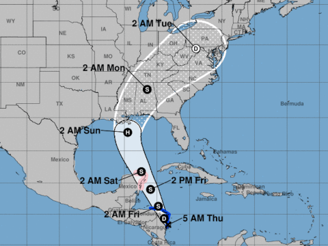 Where is Hurricane Nate and could it hit the US?