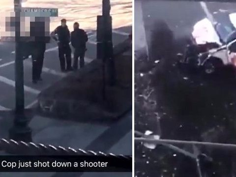 Scenes of chaos from Manhattan terror attack caught on Snapchat map