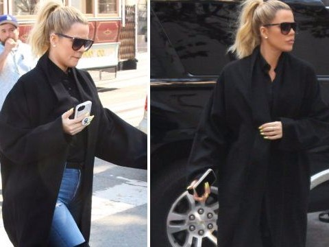 Khloe Kardashian hides her 'baby bump' in the biggest nod towards those pregnancy rumours