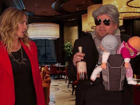 James Corden helps Julia Roberts act out her entire career in nine minutes