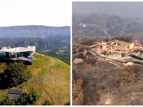 $17m glass mansion reduced to rubble by California wildfire