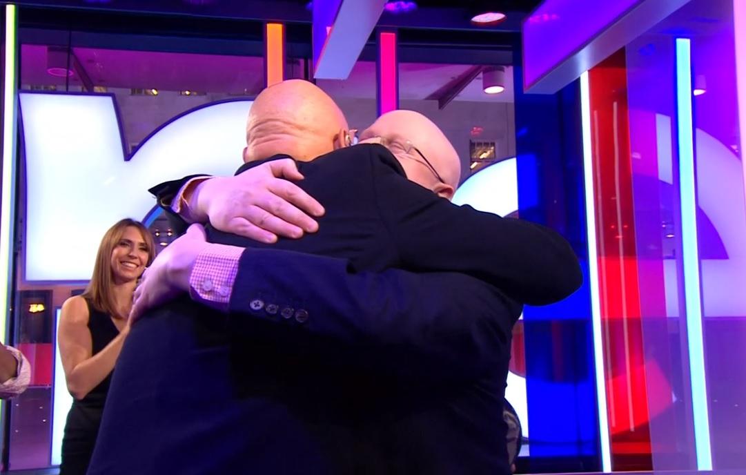 Matt Lucas gets emotional as he meets childhood hero Duncan Goodhew on The One Show