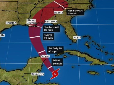 Where is Hurricane Nate and will it hit New Orleans?