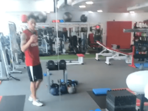 Arsenal's Mesut Ozil posts Instagram update from the gym as he steps up injury recovery