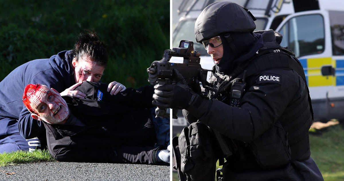 Police and fire crews spring into action in massive counter-terror exercise