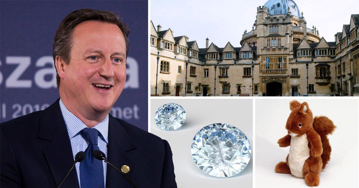 David Cameron's old Oxford drinking club has the weirdest initiation