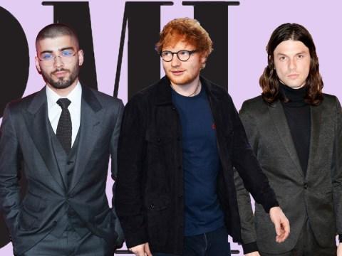 Zayn Malik, Ed Sheeran and James Bay to go head to head at the BMI London Awards