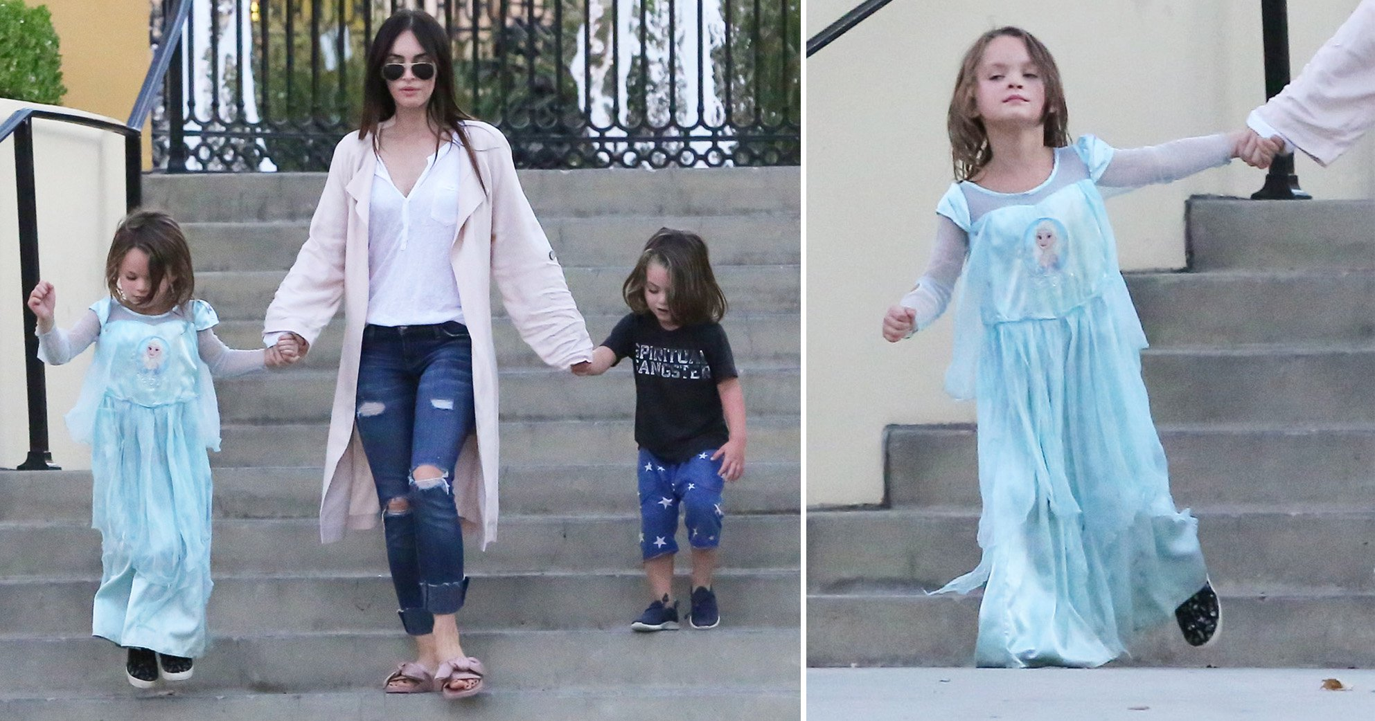 Megan Fox's son Noah, 5, rocks Frozen dress on family outing – and he's working it