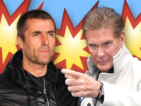 Now David Hasselhoff is feuding with Liam Gallagher and yes you read that right