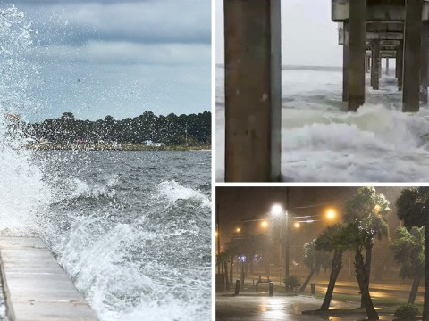 Thousands evacuated as another hurricane hits US south coast