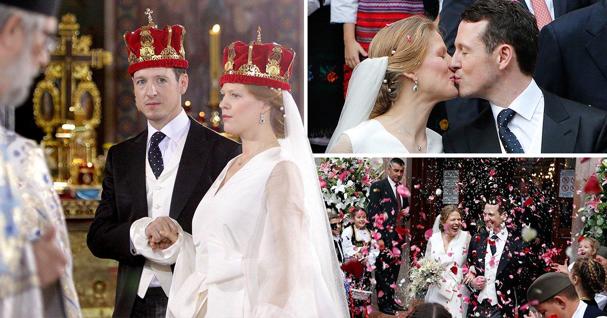 Serbian prince marries his beautiful bride in lavish Belgrade ceremony