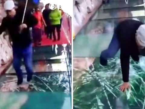Someone's made a glass bridge that looks like it's cracking under your weight