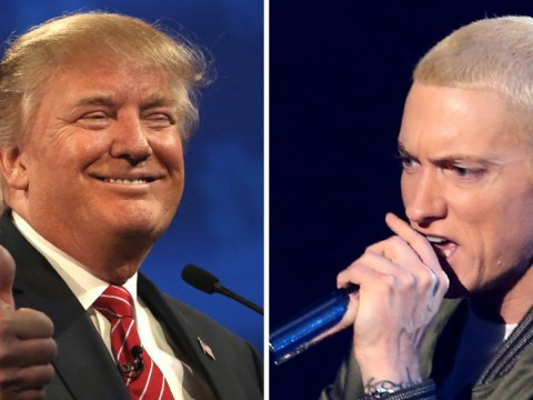 This bizarre video from way back in 2004 shows Donald Trump supporting Eminem at a rally